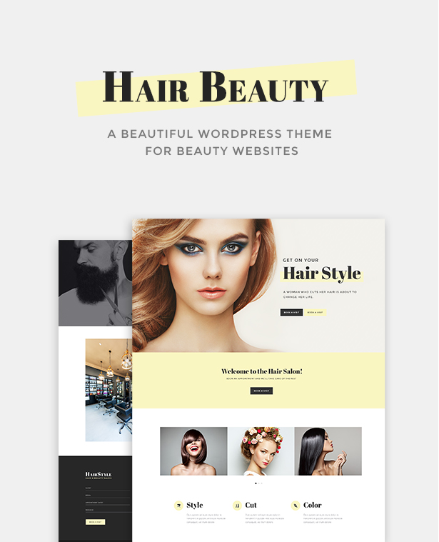Hair beauty hairdresser barber and hair salon wordpress theme hair urmus Images