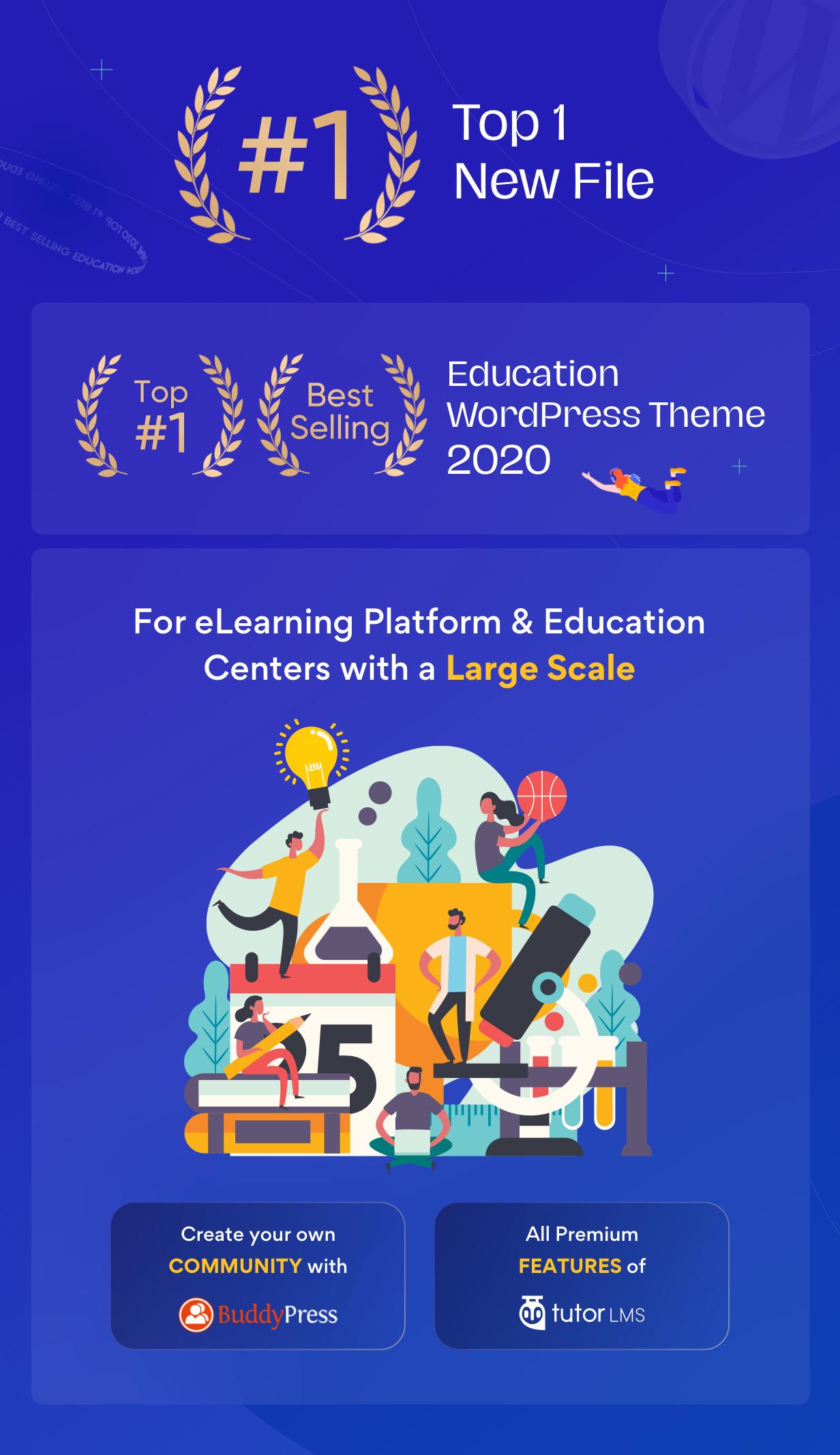 EduMall - Professional LMS Education Center WordPress Theme - 1