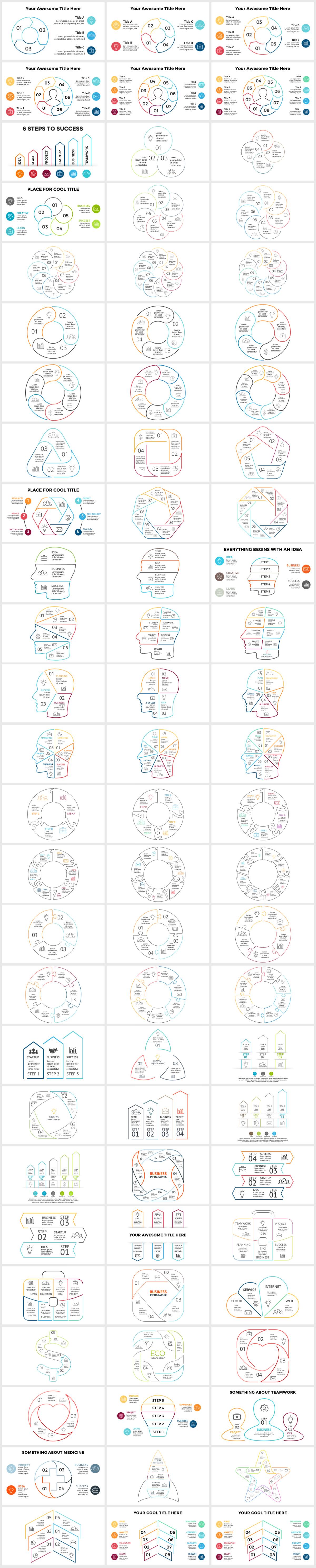 Huge Infographics Bundle! Lifetime Updates! PowerPoint, Photoshop, Illustrator. - 231