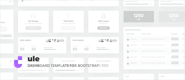 Dashboard Template for Bootstrap