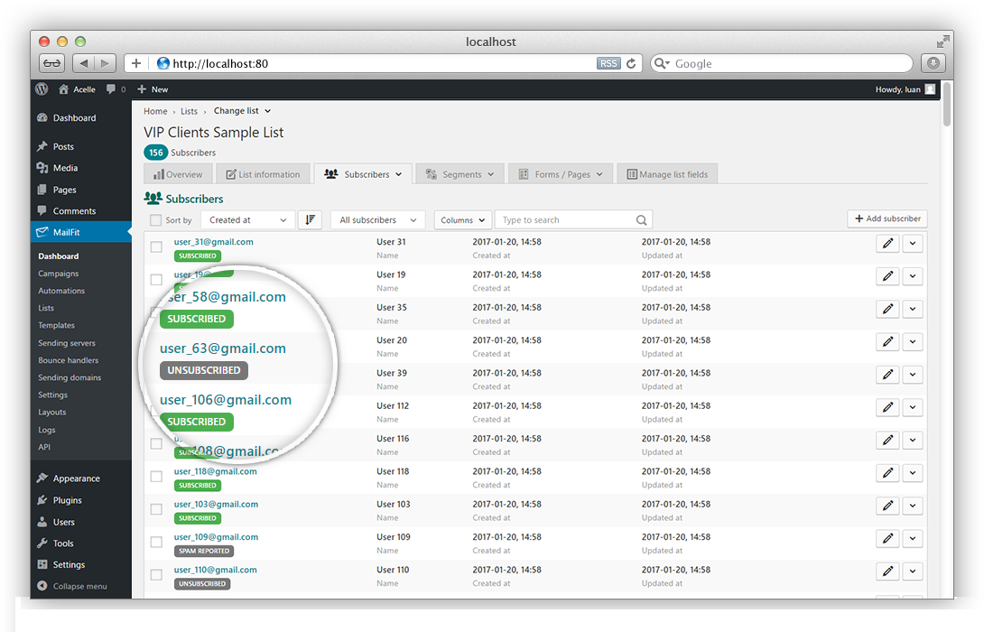 MailFit - Newsletter Plugin for Wordpress - 1