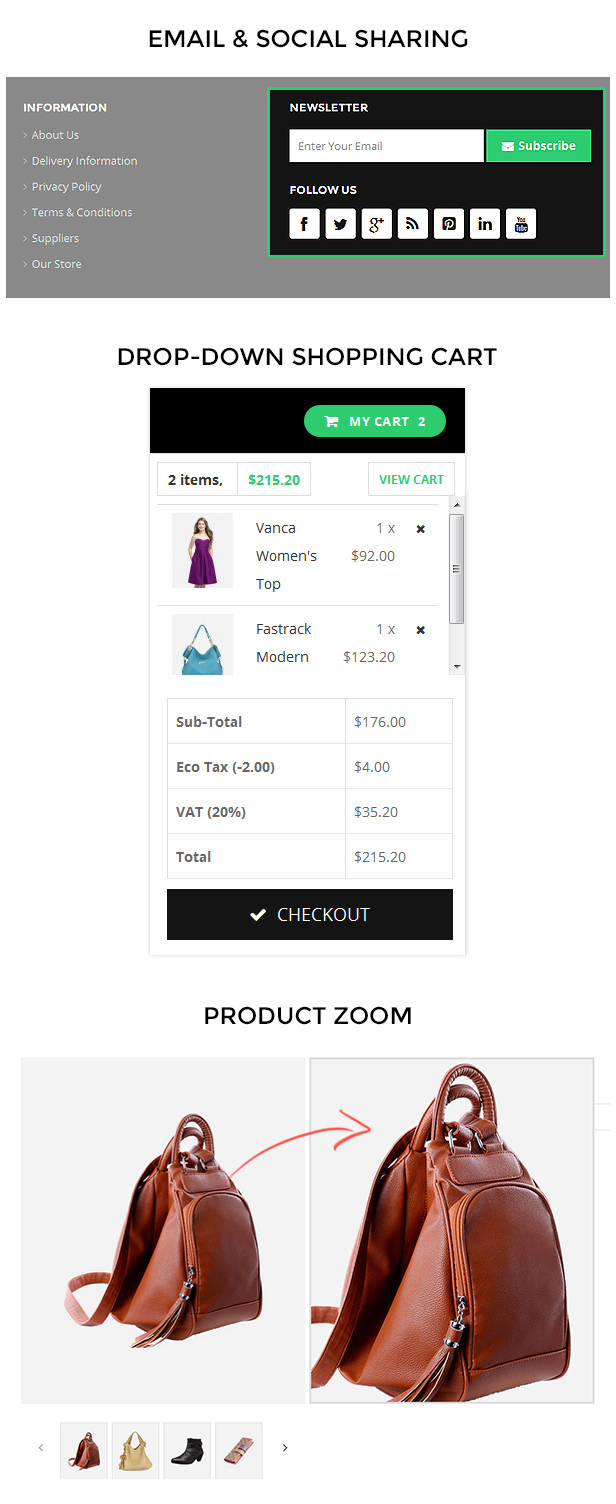 baby store opencart template