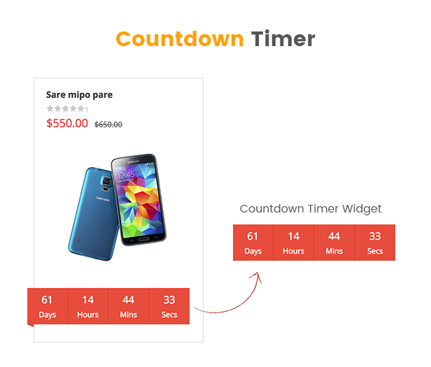SW Market - Responsive WooCommerce WordPress Theme - Coundown timer