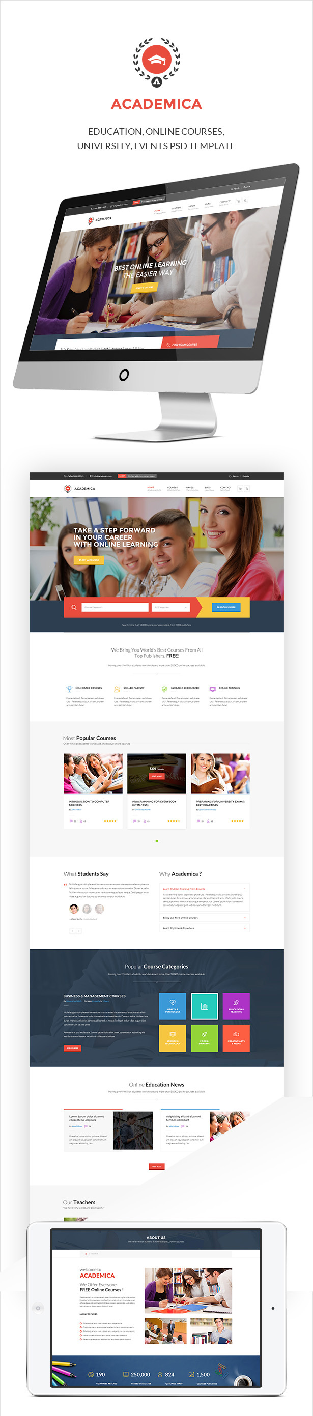 Academica -  Educational PSD Theme - 2