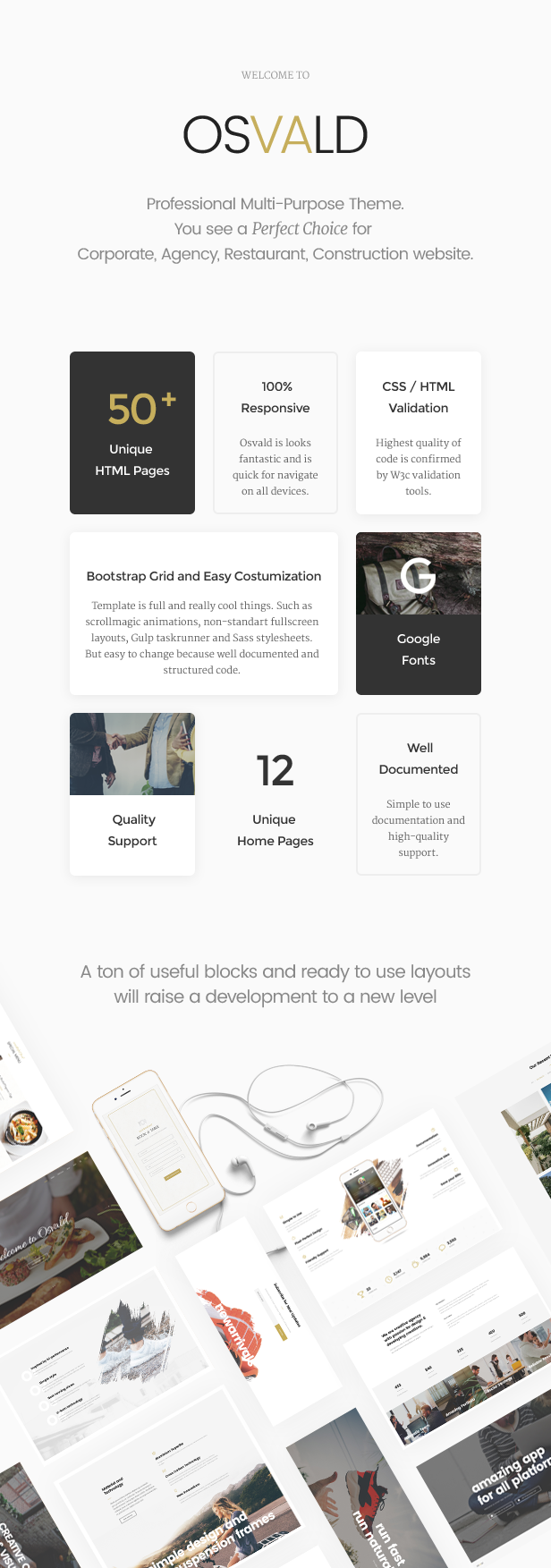 Professional Multi-Purpose Theme - Osvald