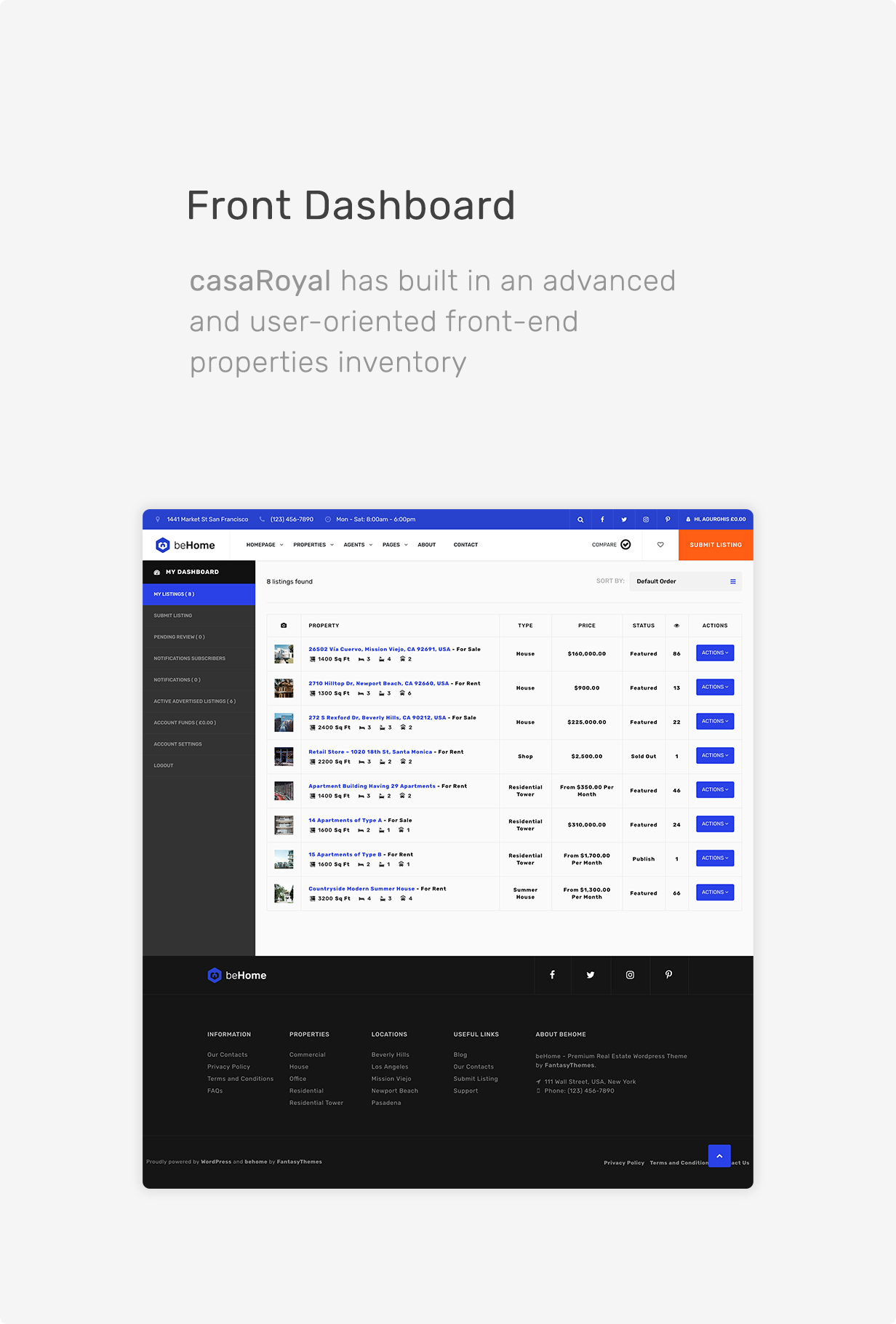 casaRoyal - Real Estate WordPress Theme - 5