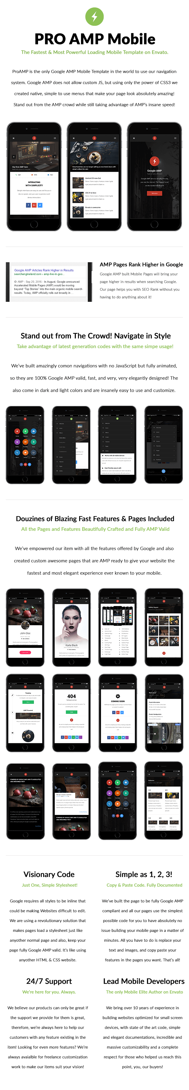Mobile web design with Amp for google