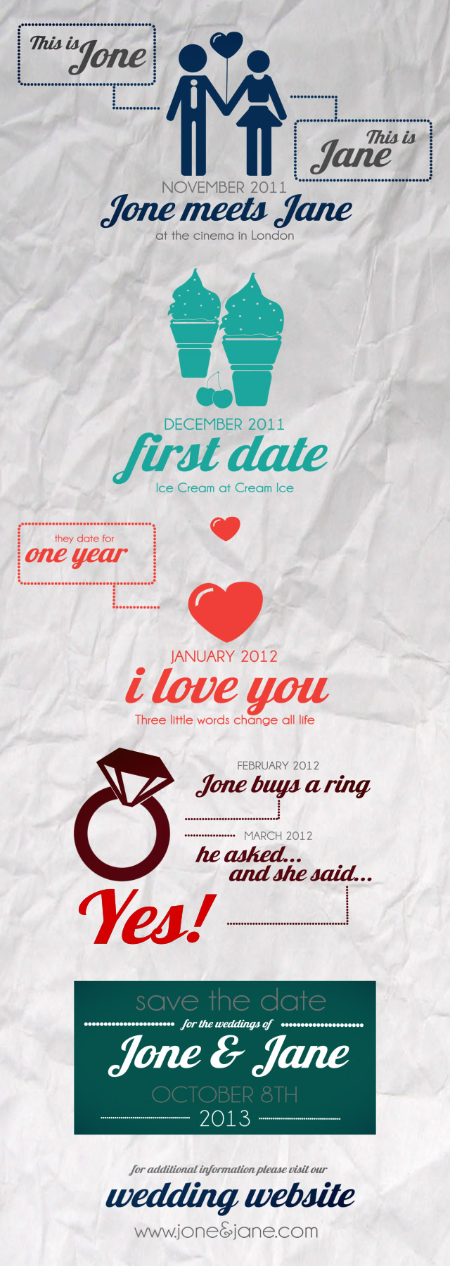Save The Date - Wedding Invitation - 2