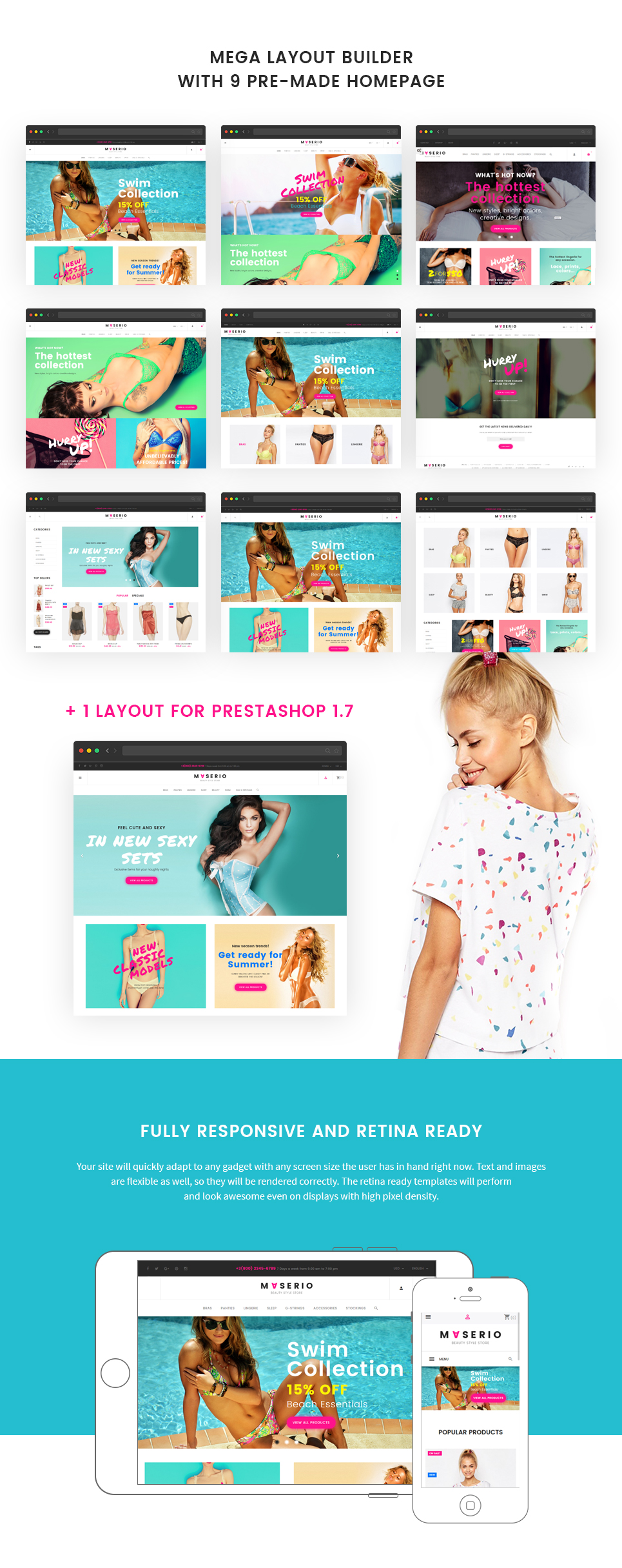 Maserio - Lingerie PrestaShop 1.7 and 1.6 Theme - 2