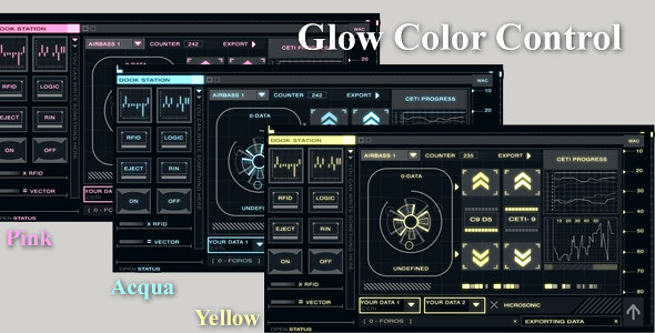 Hi-tech_interface_pack1_glow control