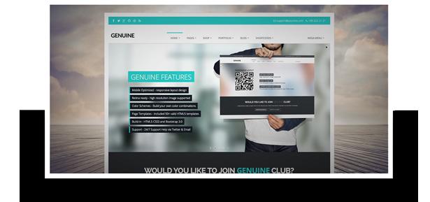 Genuine - Multi Purpose HTML5 Creative Template - 2