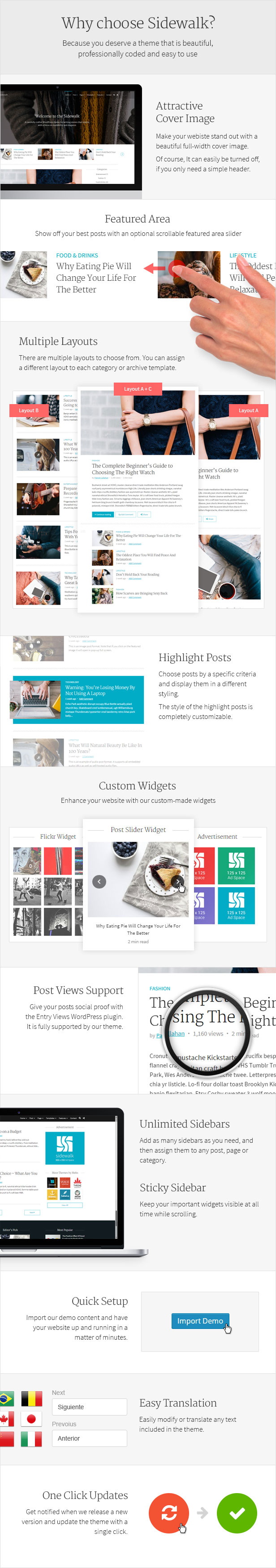 Sidewalk - Elegant Personal Blog WordPress Theme by meks | ThemeForest