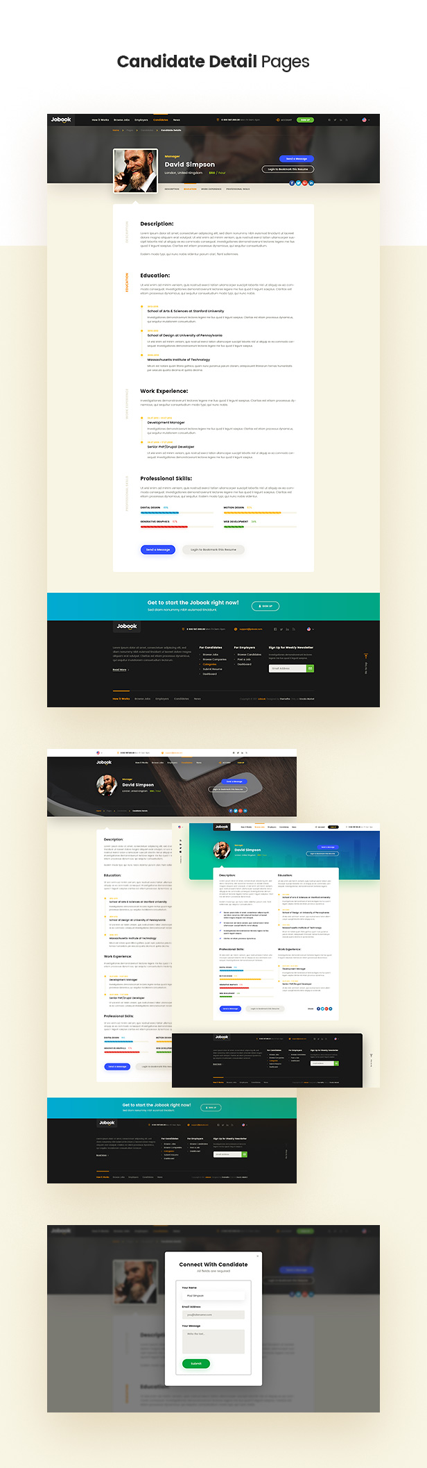 Jobook - A Unique Job Board Website PSD Template - 6
