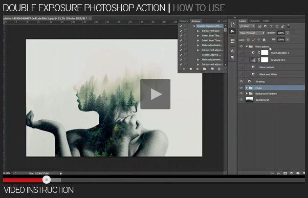 Double Exposure Photoshop Action - 1