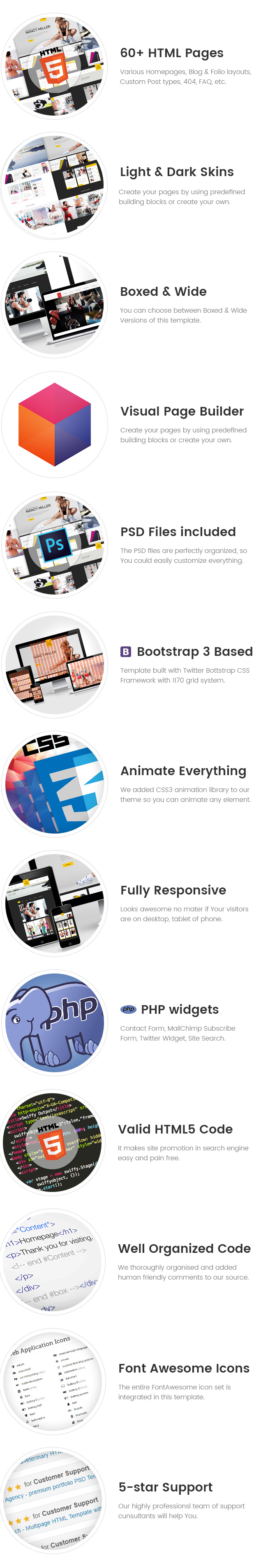 Sport Trainers - Boxing, Yoga and Crossfit Trainer HTML Template