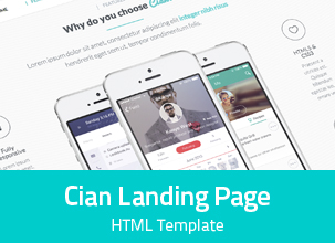 Cian - Responsive Landing Page