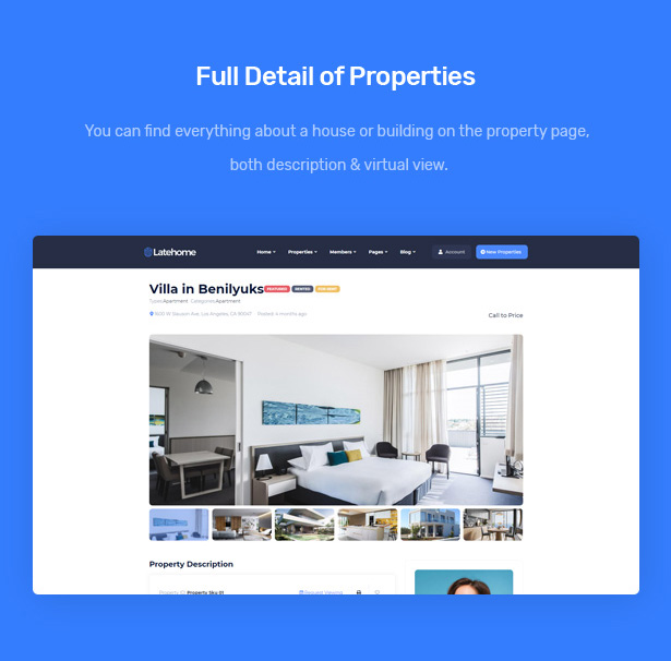 LateHome - Real Estate WordPress Theme 6