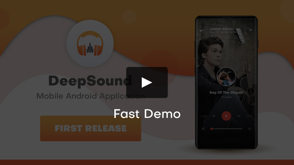 DeepSound Android- Mobile Sound & Music Sharing Platform Mobile Android Application - 1