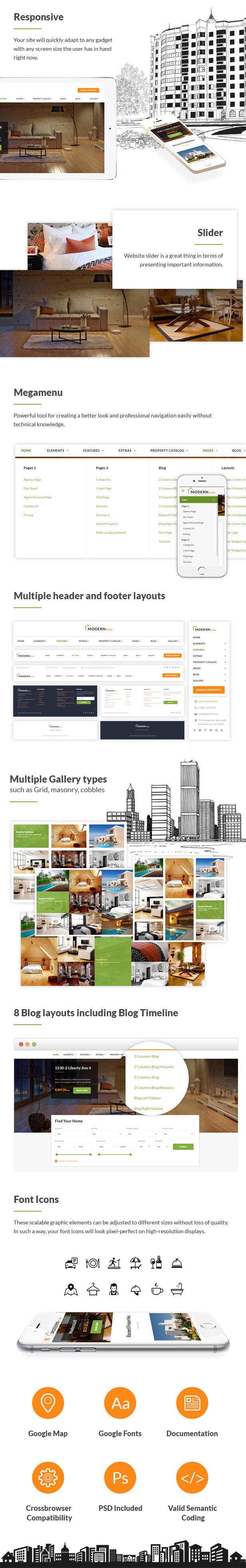 Modern Estate - Premium Website Template - 1