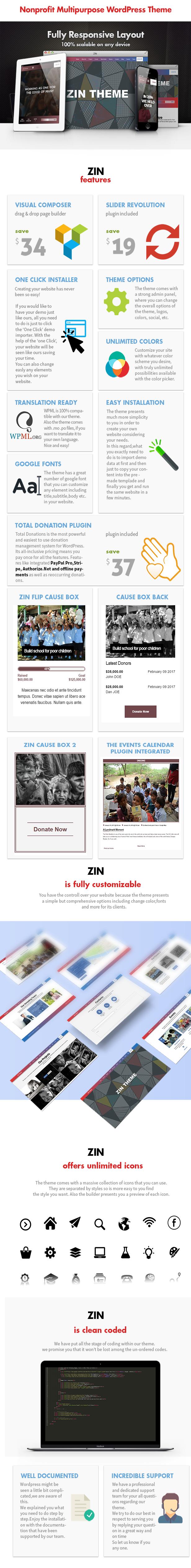 Zin - Multipurpose Nonprofit Theme - 7
