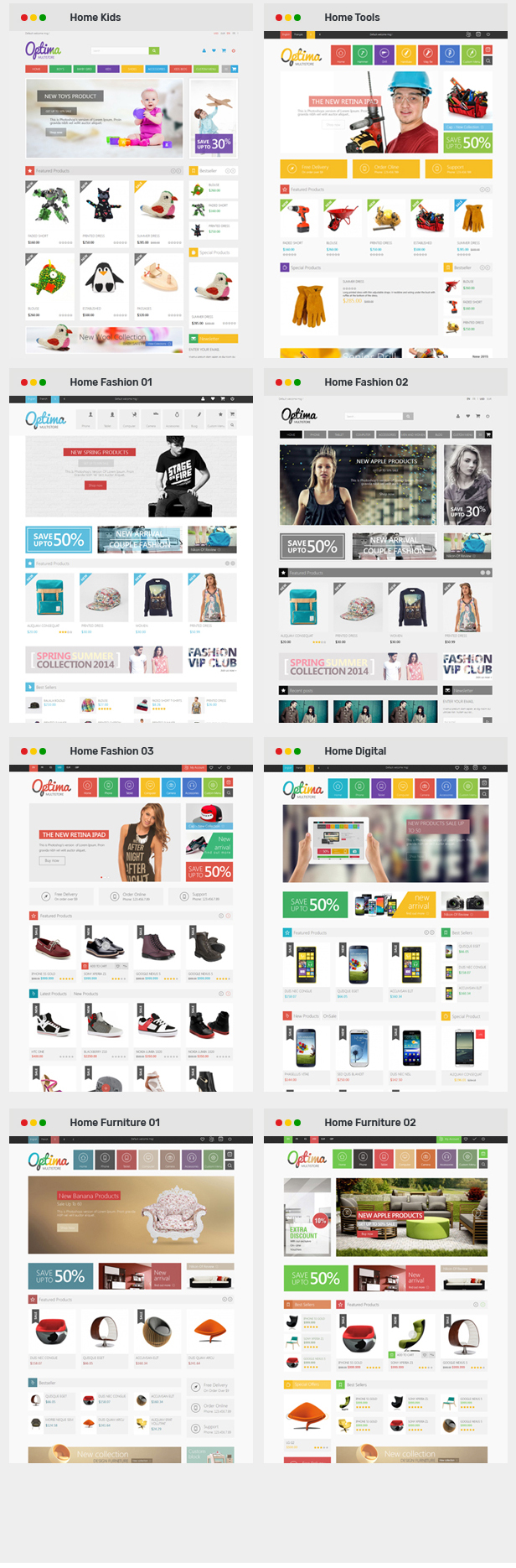 Optima - Multipurpose Responsive Prestashop