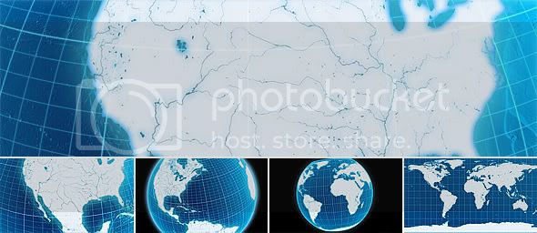 Earth to world map by kurbatov videohive another globes gumiabroncs Gallery