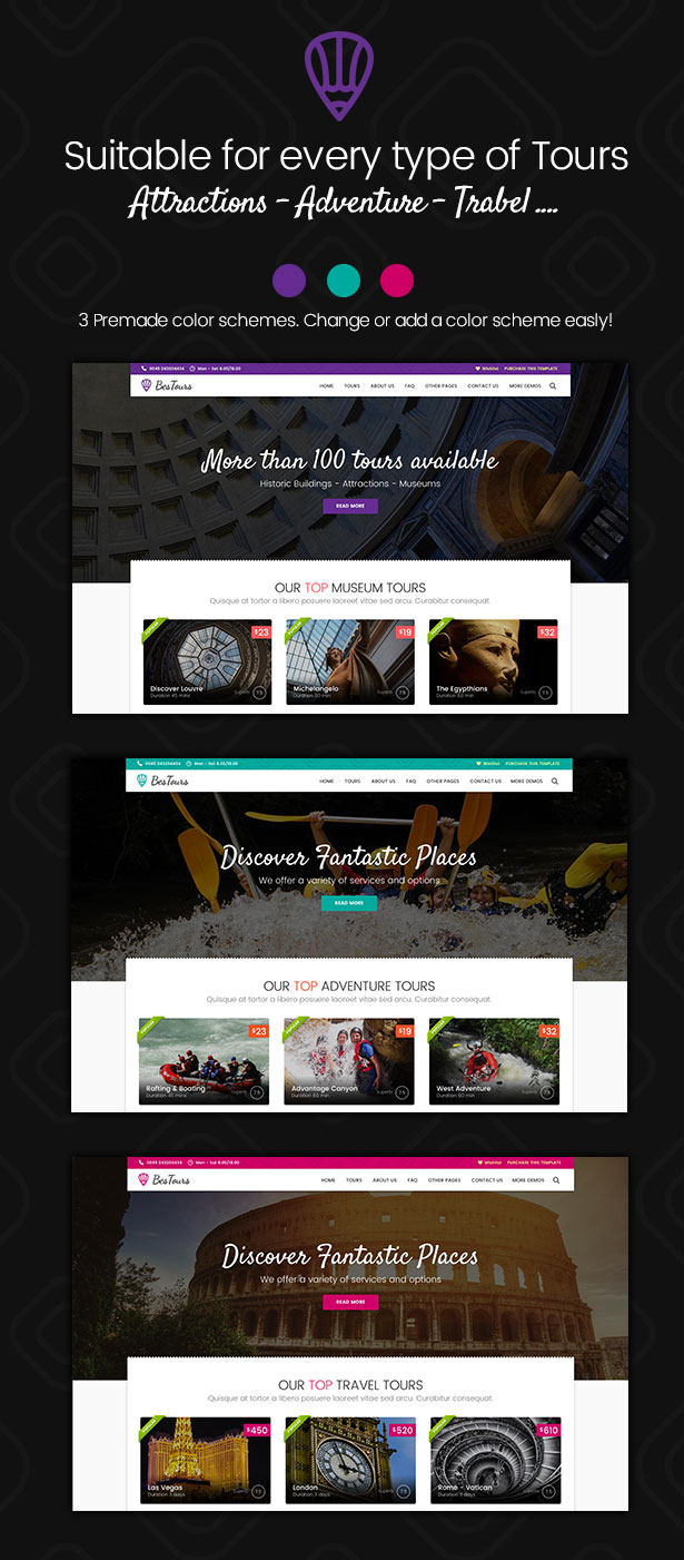 BESTOURS - Travel multipurpose WordPress
