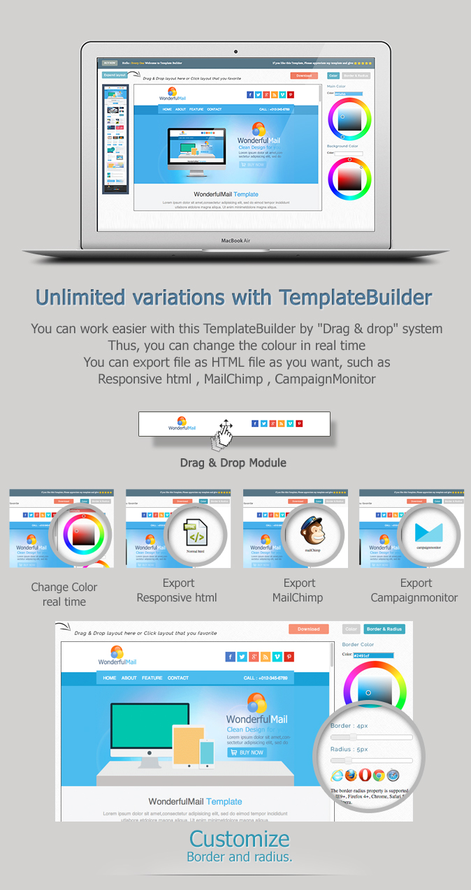 WonderfulMail - Responsive Email Template by akedodee | ThemeForest