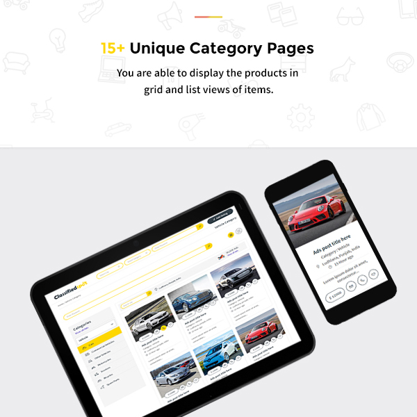classified spot html Category page designs