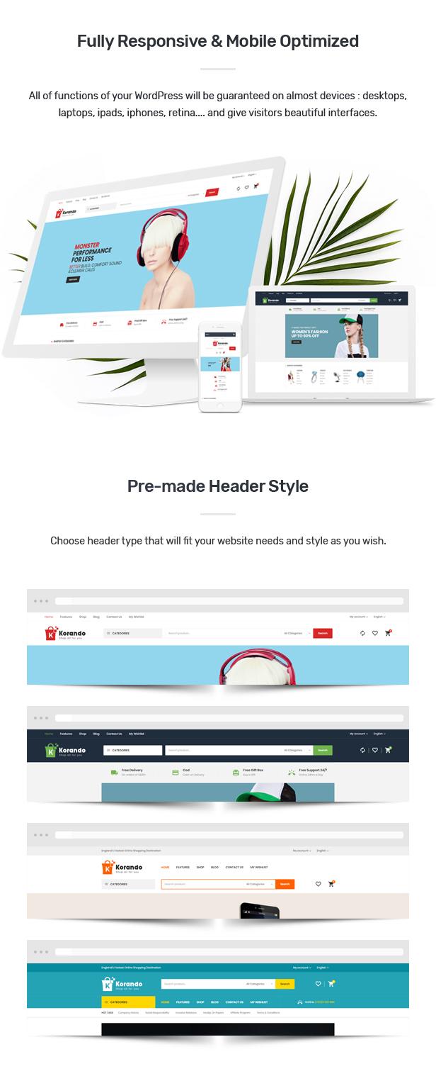 Korando - Multipurpose Theme for WooCommerce WordPress 23