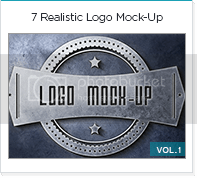 7 realistic logo mock up