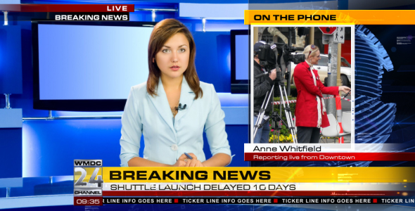 VIDEOHIVE BROADCAST DESIGN - COMPLETE NEWS PACKAGE 1 - Free After