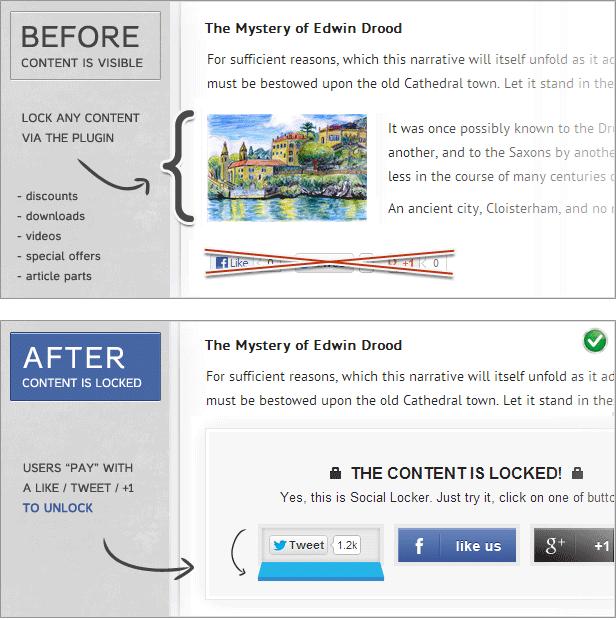 Social Locker für WordPress - 1