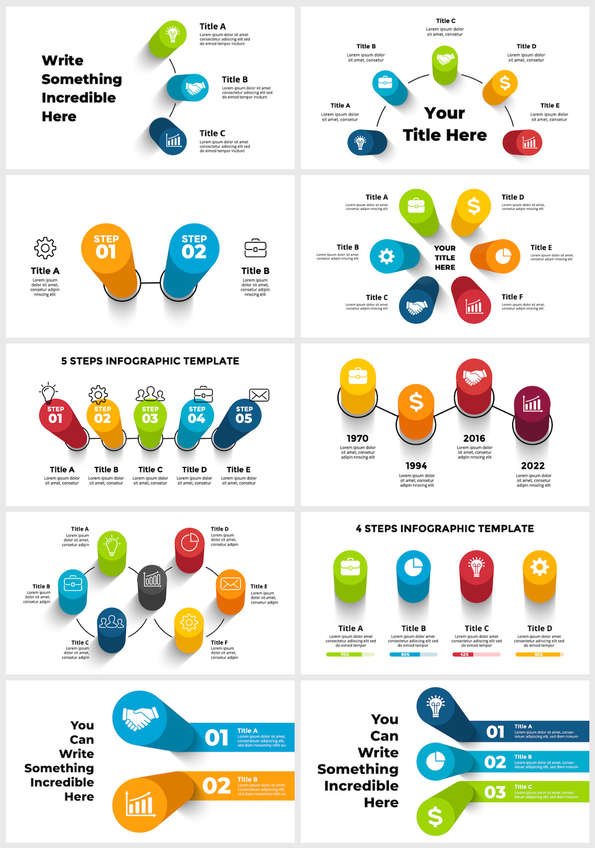 Huge Infographics Bundle! Lifetime Updates! PowerPoint, Photoshop, Illustrator. - 38