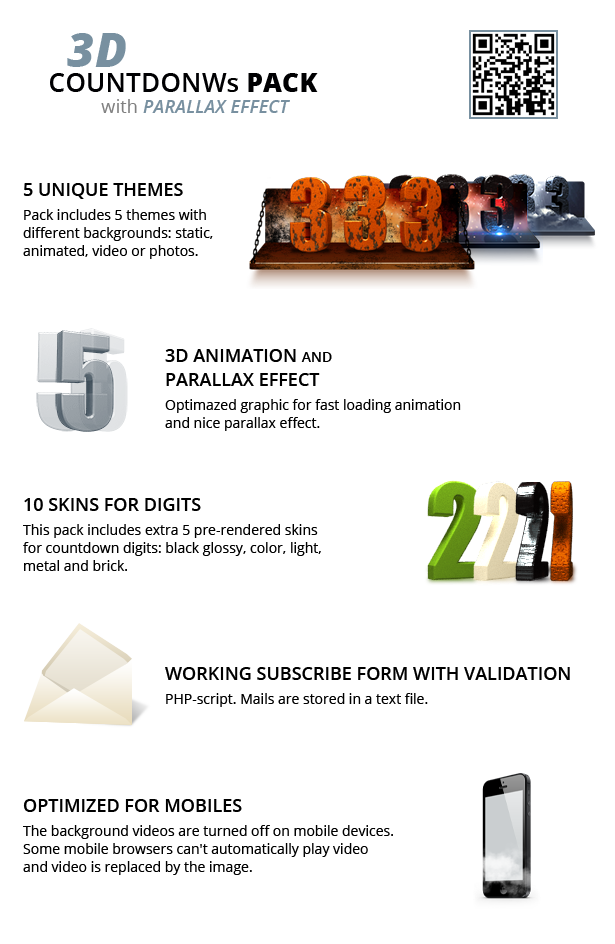 3D Countdowns Pack - 1