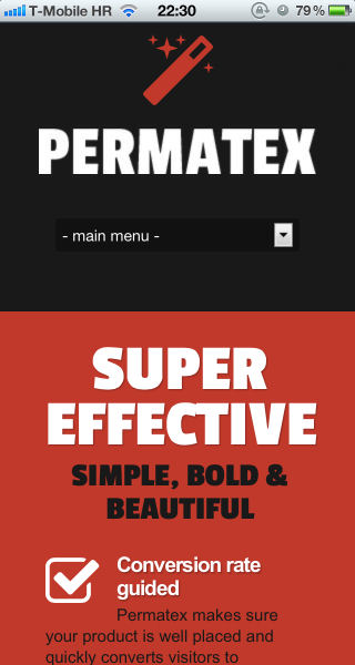 Permatex on iPhone