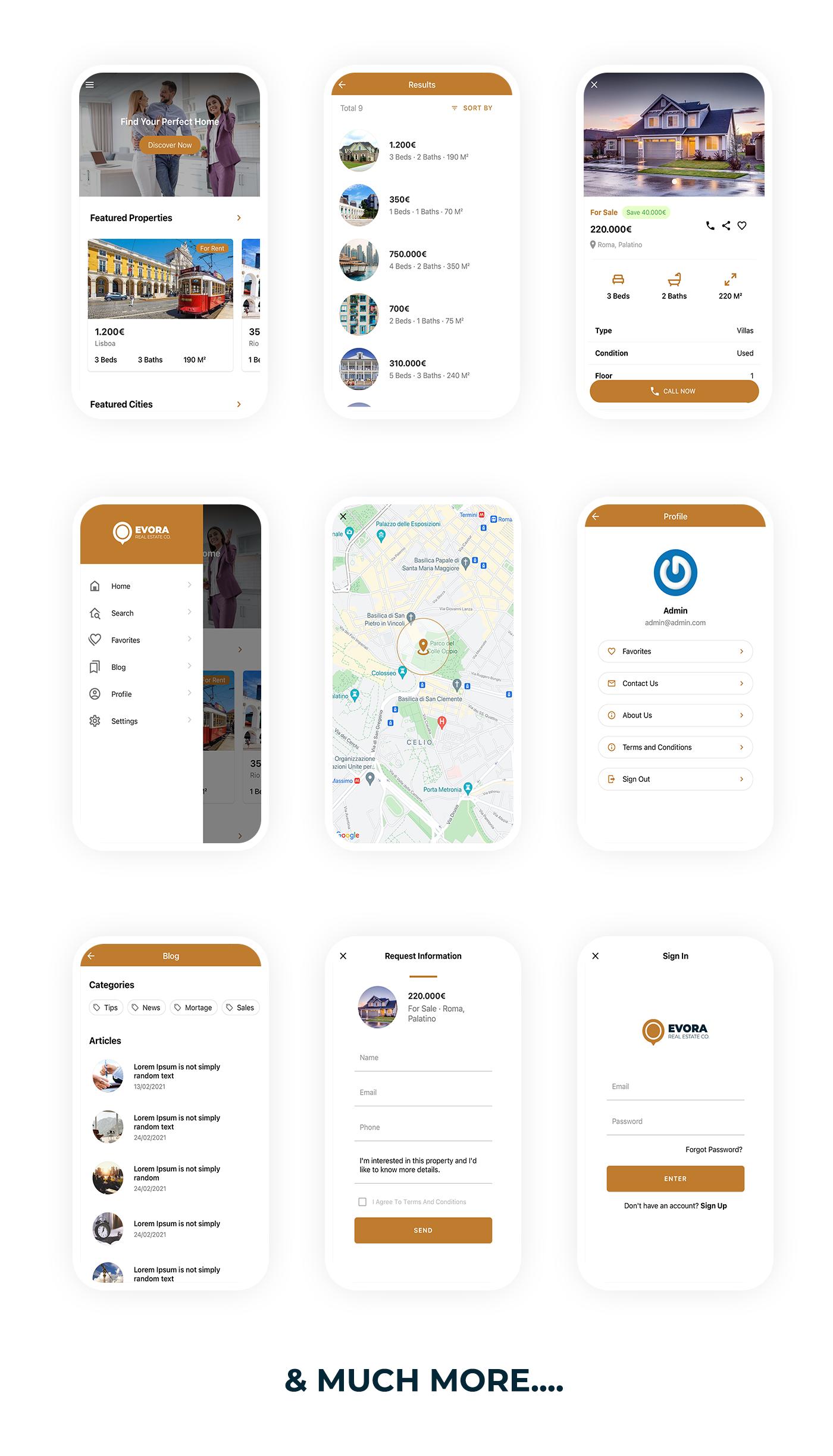 Evora - Solução Completa Imobiliária React Native App - 6