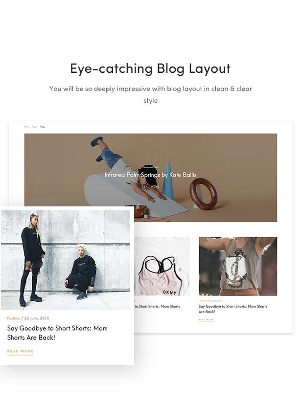 best fashion wordpress themes 2018 - blog layout