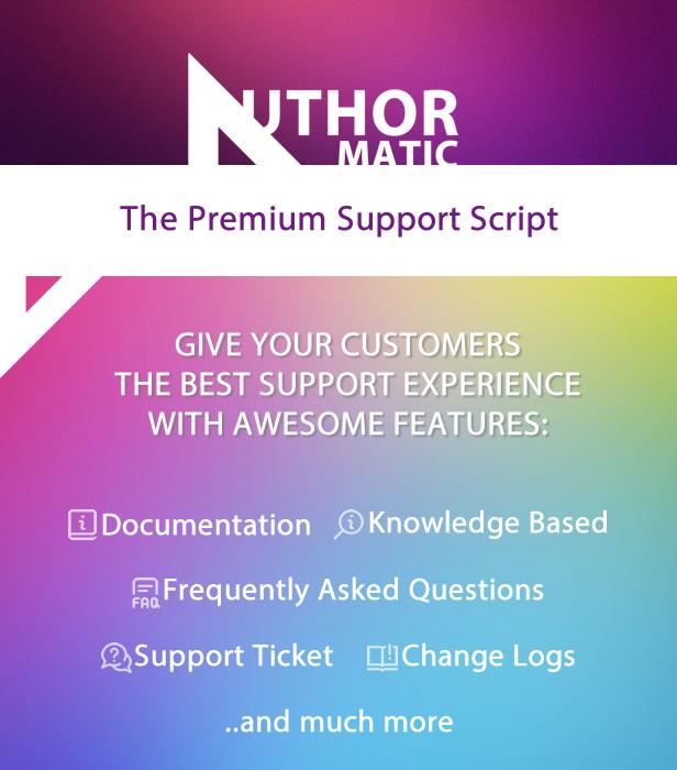 AuthorMATIC - Das Premium-Support-Skript - 1
