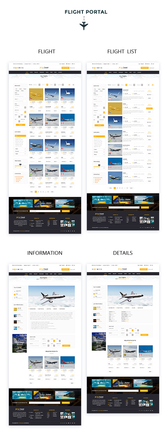 Travel PSD Template - 8