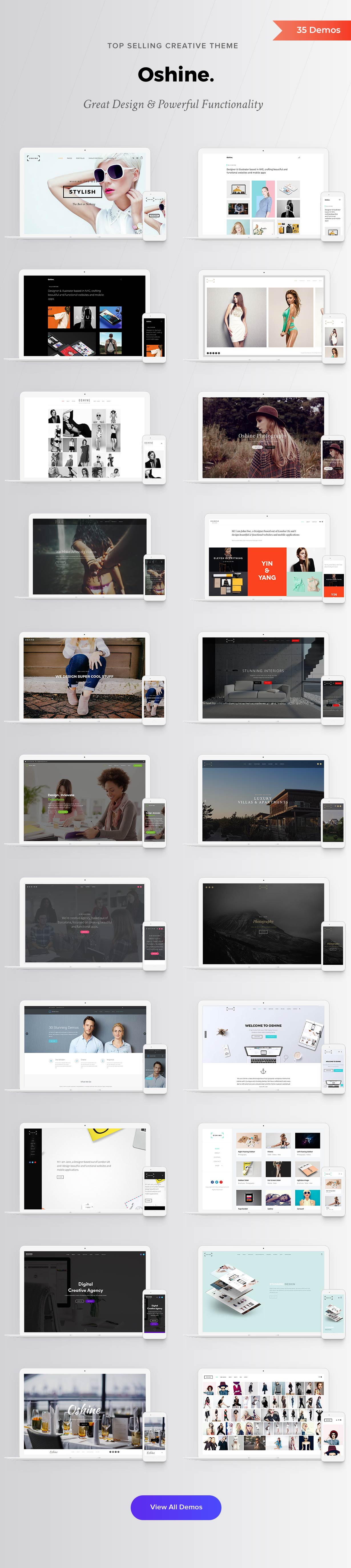 Oshine - 35 Demos Best Creative theme