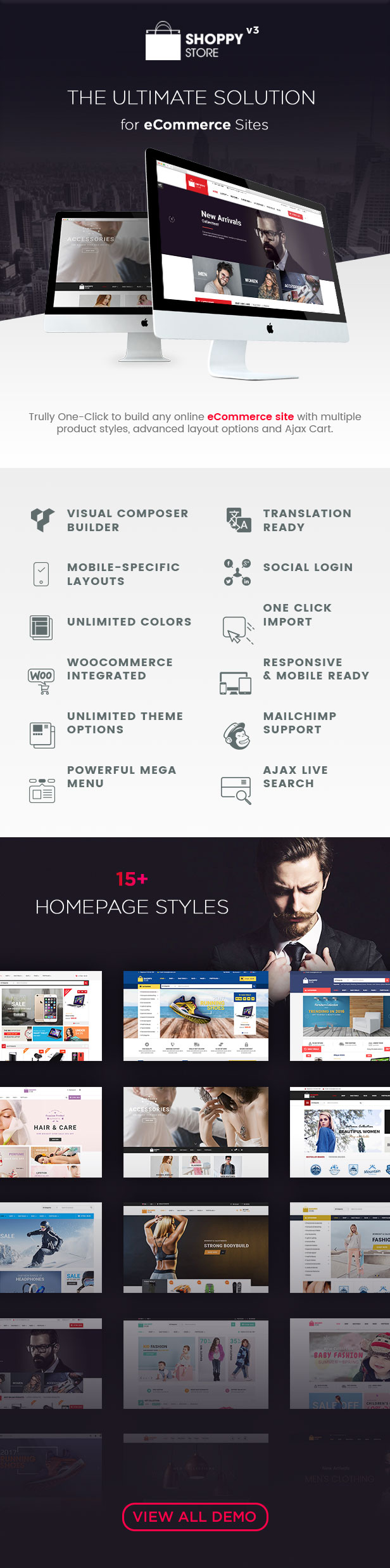 Homepage ShoppyStore Multi Purpose Responsive WooCommerce Theme
