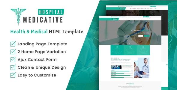 Medicative Hospital - Health and Medical HTML Template