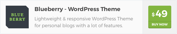 Blueberry is a lightweight & responsive WordPress Theme for personal blogs, with a lot of features, and clean & modern design.