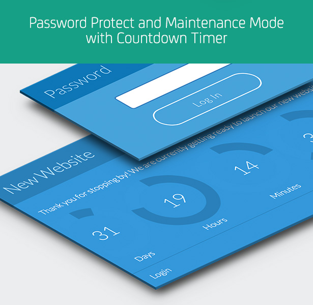 Password Protect and Maintenance Mode with Countdown Timer