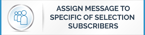Assign message to specific or selected number of subscribers Feature