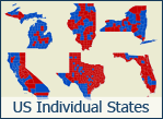 50 Individual US State Maps