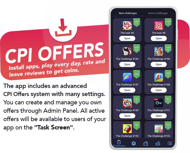 Premium Rewards App - CPI Offers System & Rewards App & HTML5 Mini Games + PHP Laravel Admin Panel - 4