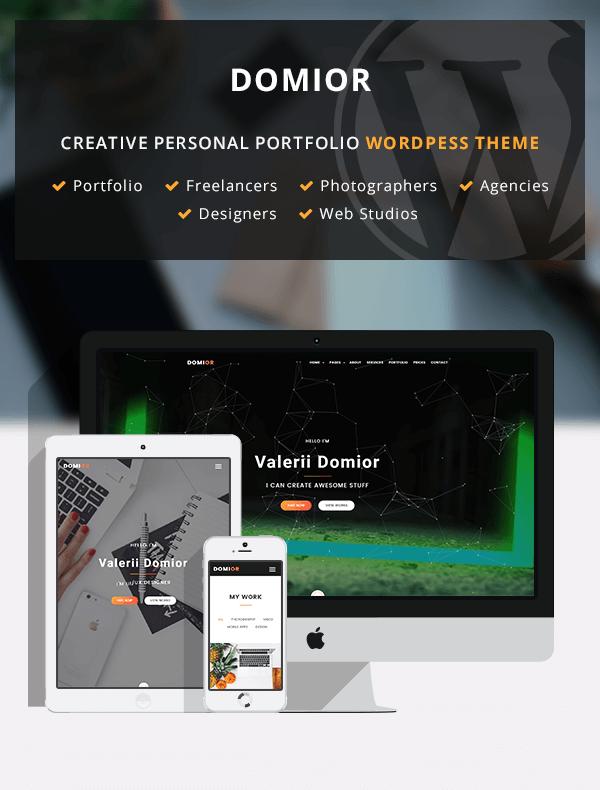Domior - Creative Personal Portfolio WordPress Shop Theme - 2