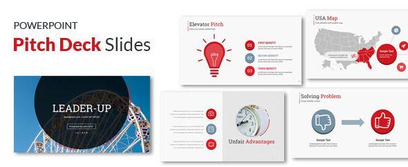 Startup Pitch Deck Leader-Up Presentation Template